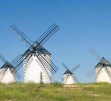 Windmills at Campo de Criptana by PhotoBilbo