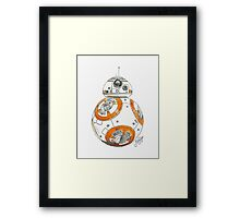 BB-8 Watercolor Framed Print