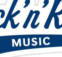 Rock 'n' Roll – Music (Blue) Sticker