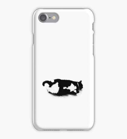 Napping Tuxedo Cat iPhone Case/Skin