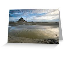 Bay of Le Mont St Michel Greeting Card