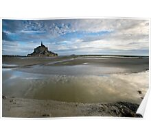 Bay of Le Mont St Michel Poster
