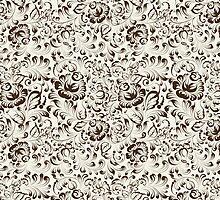 Floral seamless pattern in Gzhel style by Kotkoa