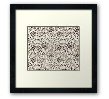 Floral seamless pattern in Gzhel style Framed Print