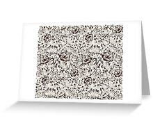 Floral seamless pattern in Gzhel style Greeting Card