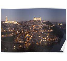 Nightfall in Toledo Poster
