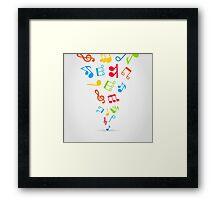 Music wind Framed Print