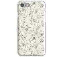 Cherry blossom seamless pattern iPhone Case/Skin