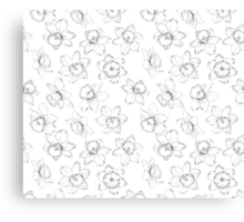 Seamless pattern with flowers narcissus. Canvas Print