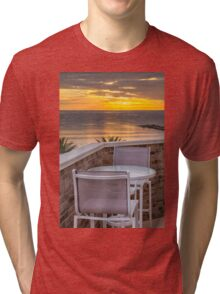 Table for two at dawn Tri-blend T-Shirt
