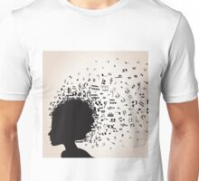 Musical female head Unisex T-Shirt