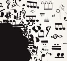Musical female head Sticker