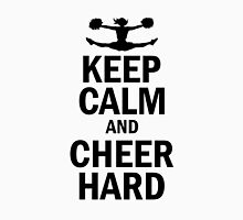 Keep Calm and Cheer hard Women's Fitted Scoop T-Shirt