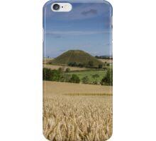 Silbury Hill and crop circle iPhone Case/Skin