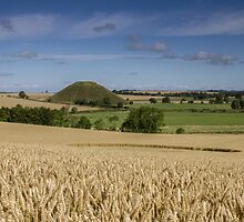 Silbury Hill and crop circle by Celtic Mystery