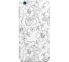 Seamless pattern of bright strawberry iPhone Case/Skin