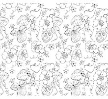 Seamless pattern of bright strawberry Photographic Print