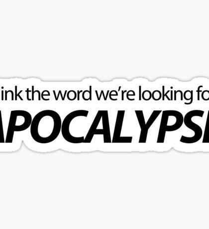 Apocalypse  Sticker