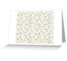 Vegetable pattern on beige background Greeting Card