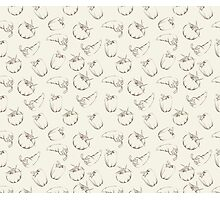 Vegetable pattern on beige background Photographic Print