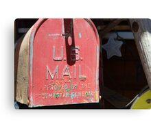 vintage US Mail box Canvas Print