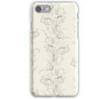 Spring isolated flowers fabric seamless pattern iPhone Case/Skin