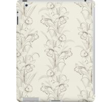 Spring isolated flowers fabric seamless pattern iPad Case/Skin