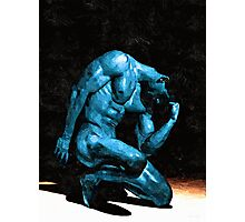 Turquoise Thinker (Original Sold - available in Limited Edition 1 of 25) Photographic Print