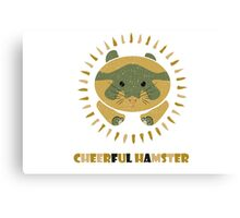 cheerful hamster Canvas Print