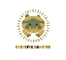 cheerful hamster Photographic Print
