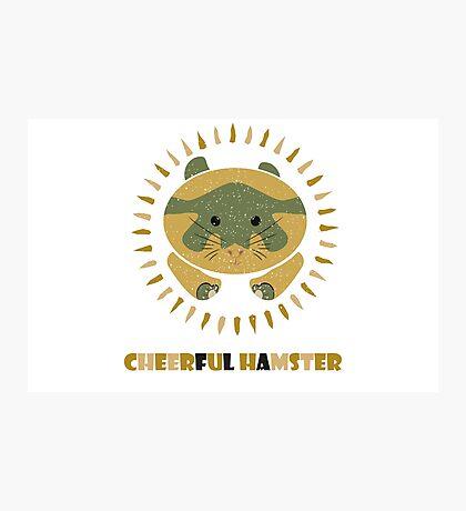 cheerful hamster Photographic Print