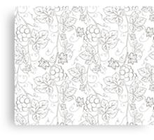 Seamless grape pattern black and white Canvas Print