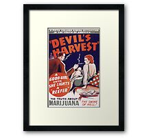 Marijuana The Devil's Harvest Framed Print