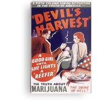 Marijuana The Devil's Harvest Metal Print