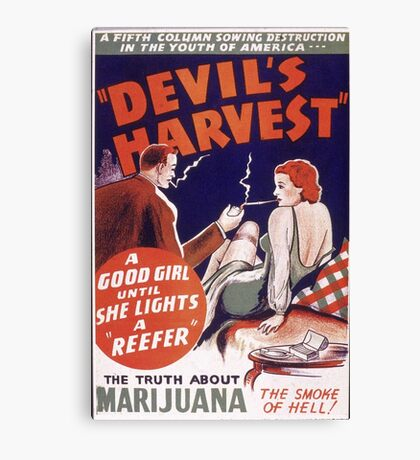 Marijuana The Devil's Harvest Canvas Print