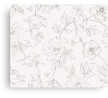 Peony seamless pattern for textile fabric Canvas Print