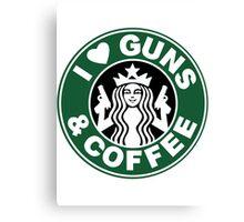 Guns & Coffee Canvas Print