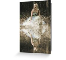 Woman reflection on the water Greeting Card