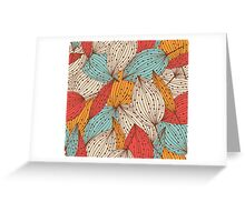 Romantic leaves Greeting Card