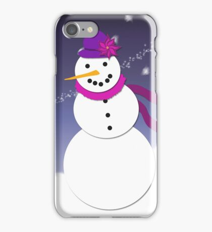 Snowman - Pink and Purple iPhone Case/Skin