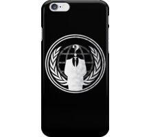 Anonymous (for dark-coloured shirts (NOT hoodies) iPhone Case/Skin