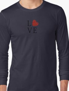 Love - Floral Red Heart  Long Sleeve T-Shirt