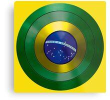 CAPTAIN BRAZIL - Captain America inspired Brazilian shield Metal Print