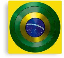 CAPTAIN BRAZIL - Captain America inspired Brazilian shield Canvas Print