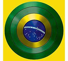 CAPTAIN BRAZIL - Captain America inspired Brazilian shield Photographic Print