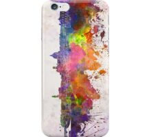 Florence skyline in watercolor background iPhone Case/Skin