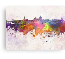 Florence skyline in watercolor background Metal Print