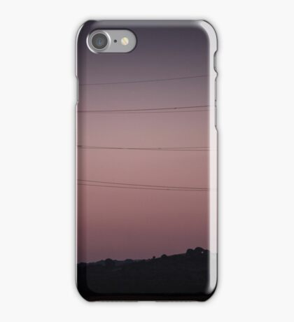 Electricity Stanchion and moon iPhone Case/Skin