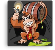Donkey Kong special Fire Canvas Print