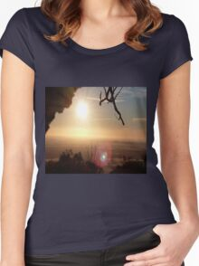 Sunrise Over the Hill Women's Fitted Scoop T-Shirt